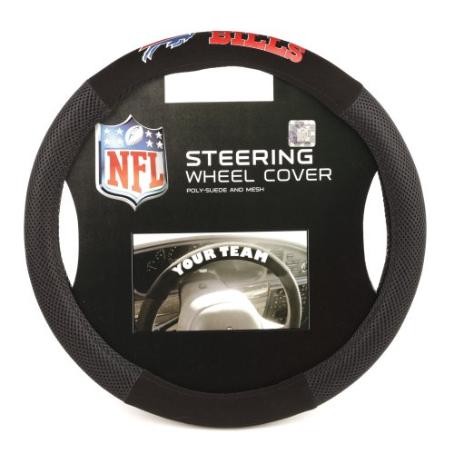 Fremont Die NFL Buffalo Bills Poly-Suede Steering Wheel Cover