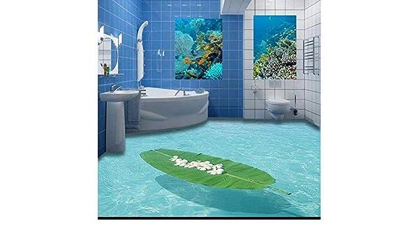 Custom 3D Flooring Mural Wallpapers 3 D Marine Indoor Stereo Bathroom Floor Floor Pvc Wallpaper Para Sala De Estar Pegatinas De Pared: Amazon.es: Bricolaje y herramientas