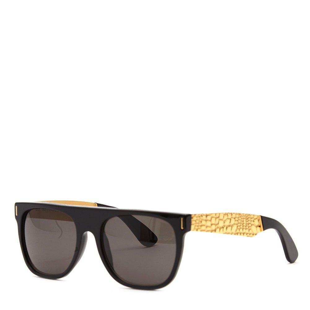 0a0e4c3cb243 Super Unisex Flat Top Francis Goggrato Sunglasses MXL Black Gold One Size:  Amazon.ca: Clothing & Accessories