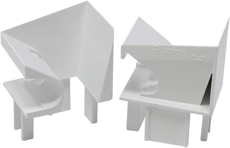 Sch/üco Einlauftrichter von DIWARO./® wei/ß f/ür Kunststoff Rolladen-F/ührungsschienen Preis pro Paar