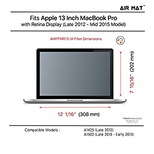 "13 Inch MacBook Pro (Retina Display) Magnetic Privacy Screen Filter (Apple Model A1425 / A1502), best removable Anti Glare Protector Film for data confidentiality - compare to 3M (MacPro 13"")"