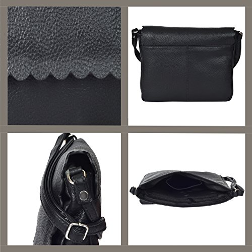 Purses Shoulder Pebble Small Messenger Womens Women Black Bag for Cross the Leather Bags Body Over Crossbody Purse Handbag wvqTg7P1