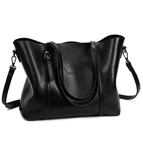 SIFINI Noir la en mode Sacs à PU bandoulière main Sac à Tout Fourre à Sac Femmes cuir Sa8rqZS