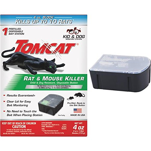 Tomcat Rat Killer, 1-Pack (Kid and Dog Resistant Disposable Rat Bait Station)