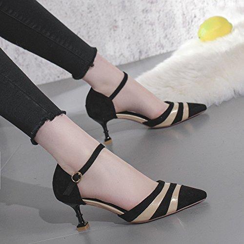 Mariage Pour 6cm 2 élégant Peu Femmes La Wind Court Hauts Chaussures Suede à Chaussures EU De Avec Beige Talons Shoes Profonde 34 Princesse Unique Bouche UK Tq8t4ww1