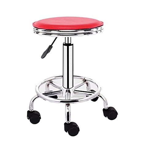 Round Stool with Lines Rotation Bar Stool Height Adjustable Swivel Dining Chair