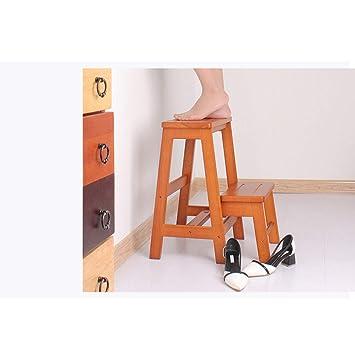 SONGTING Step stool 2 escalones Taburete Escalera Escalera ...