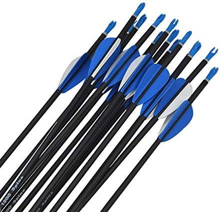 SHARROW 12pcs Flechas de Carbono 32