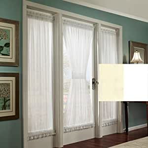 Amazon Com 63 Quot White Stacey Privacy French Door Panel