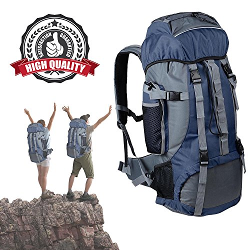 Koval Inc. 70L Hiking Camping Rucksack Backpack Travel Bag (Blue)