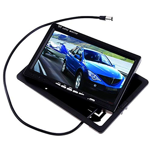 (Udele-Store - 7 Inch TFT LCD Color Car Rear View Monitor DVD VCR for Reverse Backup Camera Truck Bus Parking Camera Monitor System)