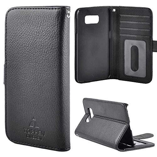 TOPPEN Left Handed Wallet Case Samsung Galaxy S8, Black