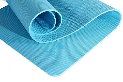 "IUGA TPE Yoga Mat, Extra Thick 7mm, Middle Stripes for Alignment Reminding, Free Quality Carry Strap, 100% TPE Material Excellent Cushion, Anti Skid and Light Weight, Size 72""X26"""