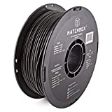 HATCHBOX PLA 3D Printer Filament, Dimensional Accuracy +/- 0.03 mm, 1 kg Spool, 3.00 mm, Black