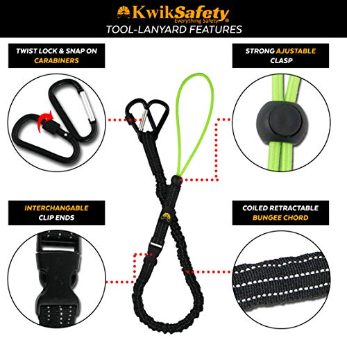 KwikSafety (Charlotte, NC) THUNDER KIT | 3D Full Body Safety Harness, 6' Lanyard, Tool Lanyard, 3' Cross Arm Strap Anchor ANSI OSHA PPE Fall Protection Arrest Restraint Construction Roofing Bucket by KwikSafety (Image #5)