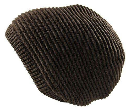 RW Rasta 100% Cotton Knitted Beanie (BROWN) (Brown Cotton Beanie)