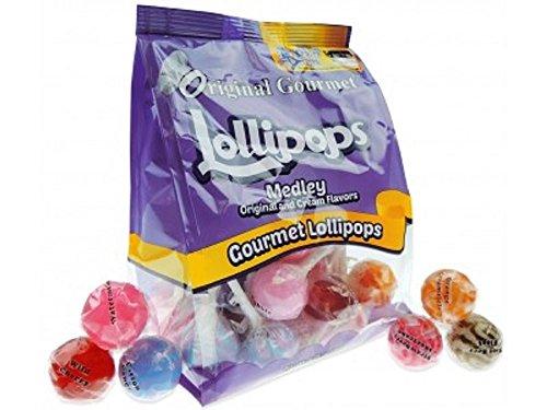 Original Gourmet Medley Original and Cream Lollipops, 20 count, 7.4 (Gourmet Lollipops)