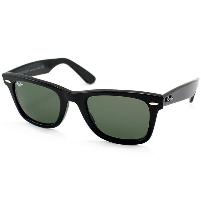Amazon.com: Ray Ban Rb2140 901 54 mm Black Wayfarer anteojos ...