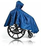 CareActive Wheelchair Rain Poncho, Navy