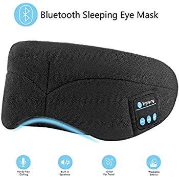 5ad816eb7f9 Bluetooth Sleeping Eye Mask with Wireless Headphones,ERNSTING Wireless  Bluetooth Music Headset with Adjustable Built-in Speaker and Microphone  Calls ...