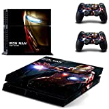 PS4 Console and 2 Controller Vinyl Skin Cover Set Protective Playstation 4 Gaming - IRON MAN TONY STARK by Mr Wonderful Skin