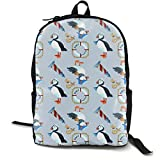 Best Puffin Kid Books - JSHI Puffin Navy Women Men Girls Travel Backpack Review