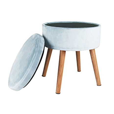 Tremendous Amazon Com Geyobby Round Storage Ottoman Solid Wood Modern Gmtry Best Dining Table And Chair Ideas Images Gmtryco