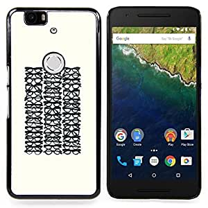 Stuss Case / Funda Carcasa protectora - Gafas Optimetrist minimalista Hipster - Huawei Google Nexus 6P