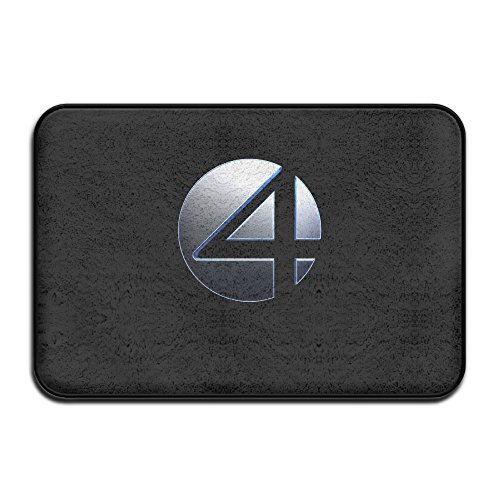 Fantastic Four Logo Movie Doormat And Dog Mat ,40cm 60cm Non-slip Doormats,Suitable For Indoor Outdoor Bathroom Kitchen Doormat And Pets (Cape Cod Braided Rugs)