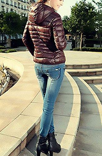 Ropa Con Abrigos Chaqueta Plumas Slim Larga Khaki Plumas Fashion Cremallera Mujer Manga Casual Chaquetas Outdoor Acolchados Coat Fit Outerwear Abrigo De De Invierno TrgrOYqw