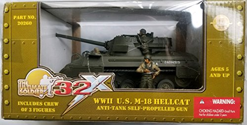 21st Century Toys Vehicles (21st Century Toys 1:32 Scale The Ultimate Soldier 32 WWII U.S. M-18 Hellcat Anti-Tank Self Propelled Gun)