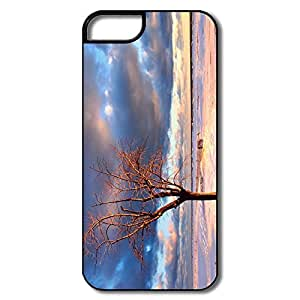 IPhone 5 Covers, Tree Beach Covers For IPhone 5 5S - White/black Hard Plastic