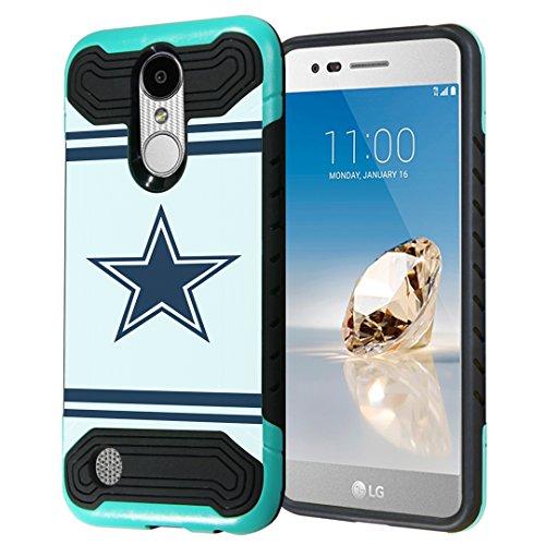 LG Aristo Case, LG Fortune Case, LG Phoenix 3 Case, Capsule-Case Hybrid Dual Layer Slim Armor Case (Mint Black) for LG Aristo / Fortune / Phoenix3 / K4 2017 / - Phoenix Mall Sky