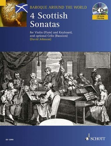 Four Scottish Sonatas: For Violin and Keyboard, with optional Cello - Score and Parts [Paperback] [2007] (Author) David Johnson ()