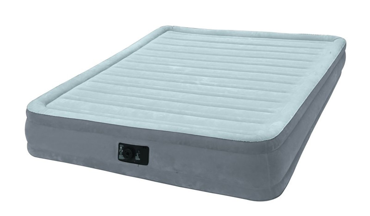 Intex Dura-Beam Comfort Plush Mid Rise Air Bed Single (Twin) Size with built-in electric pump #67766