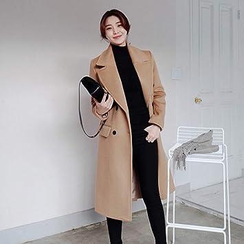 TJOIREJ Abrigos De Mujer Estilo Coreano Mujeres Invierno Sólido Largo Recto Abrigo Largo Lady Autumn Elegant