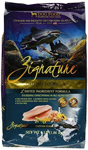 Zignature 12713154 Catfish Formula Dry Dog Food, 4 Lb Review