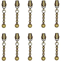 Metal Zipper Sliders 10 Pcs - #3 Zipper Repair Kit, Bronze - by Beaulegan