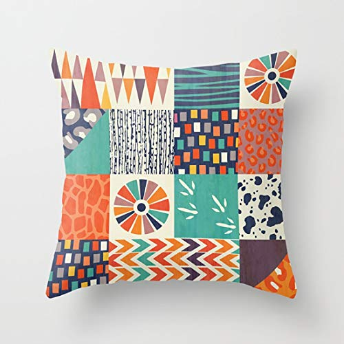 Lttedeng Throw Pillow Cases Out of Africa with Simple Styles for Home Car Office Coffee Decoration ()