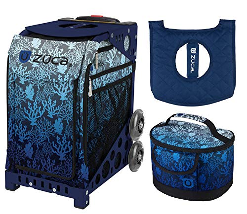 - Zuca Sport Bag - Reef with Gift Lunchbox and Zuca Seat Cover (Navy Frame)