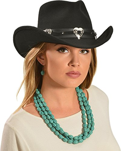 Master Hatters Women's Julia Cowgirl Hat Black Small