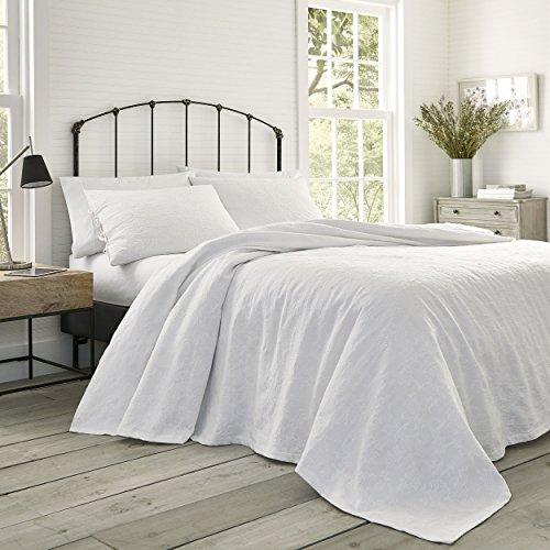 Laura Ashley Cockatoo Bay Quilt Set King Pastel Grey