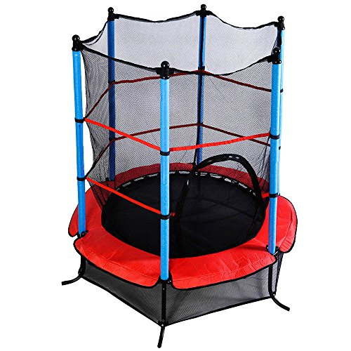 "Marketworldcup- Youth Jumping Round Trampoline 55"" Exercise W/ Safety Pad Enclosure Combo Kids US Stocks & Warranty! Best Quality !Fastest Shipping ! by Marketworldcup (Image #6)"