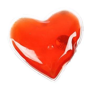 eBuyGB Hombres de Calentadores de Mano de Gel Reutilizables, Hombre, Color Red Heart,