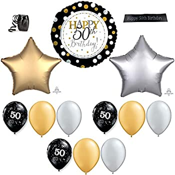 50th Happy Birthday Balloon Decorations