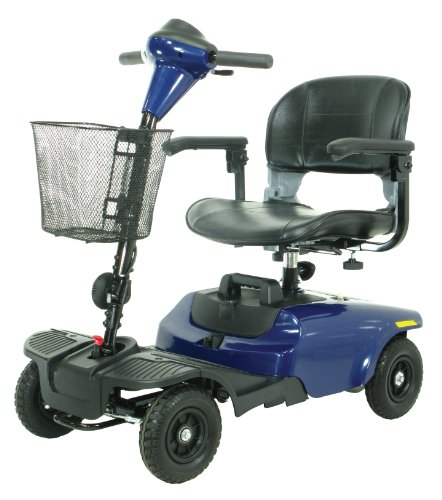 Drive Medical Bobcat 4 Wheel Compact Scooter, Blue