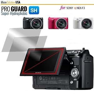 Micro Solution Digital Camera Super Anti-Fingerprint HD Display Protection Film (Pro Guard SH) for Sony Alpha NEX-F3 // PGSHSONEX-B