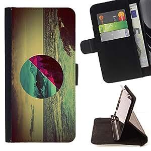 Momo Phone Case / Flip Funda de Cuero Case Cover - Geometría Ocean Forest;;;;;;;; - Samsung Galaxy S5 Mini, SM-G800