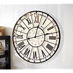 Y-Hui Roman Iron Art So The Old Decorative Wall Clock French Antique Living Room Large Wall Clock, The Other In Rome (B) Table Tray Diameter 60Cm