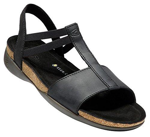 KEEN Womens Ana Cortez T Strap-W Flat Sandal Black/Black 2CNoi